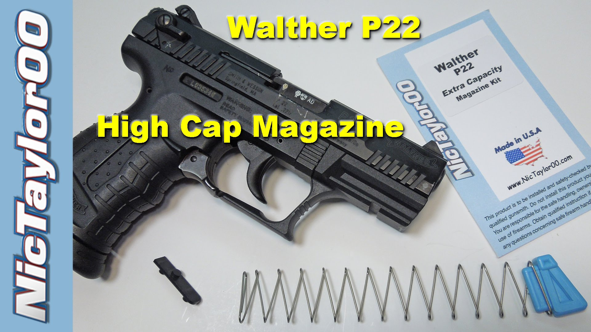 Walther P22 High Capacity Magazine Upgrade