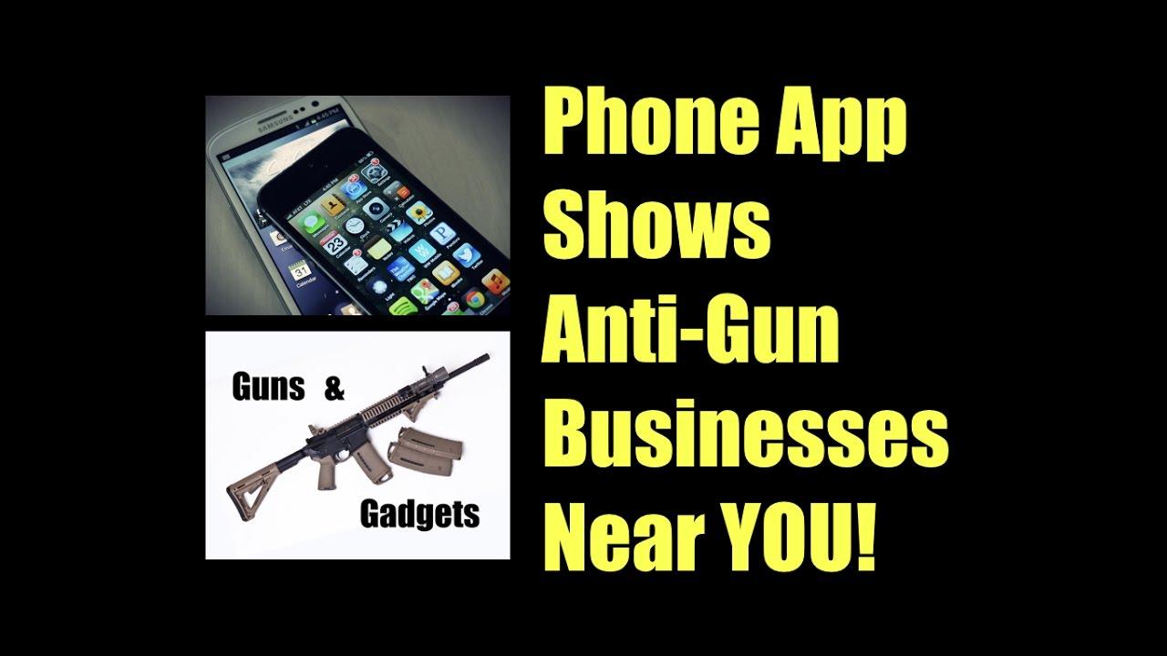 Phone App Shows Anti-Gun Businesses Near You