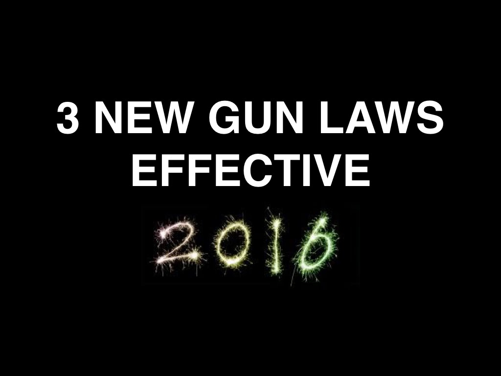 3 New Gun Laws for 2016