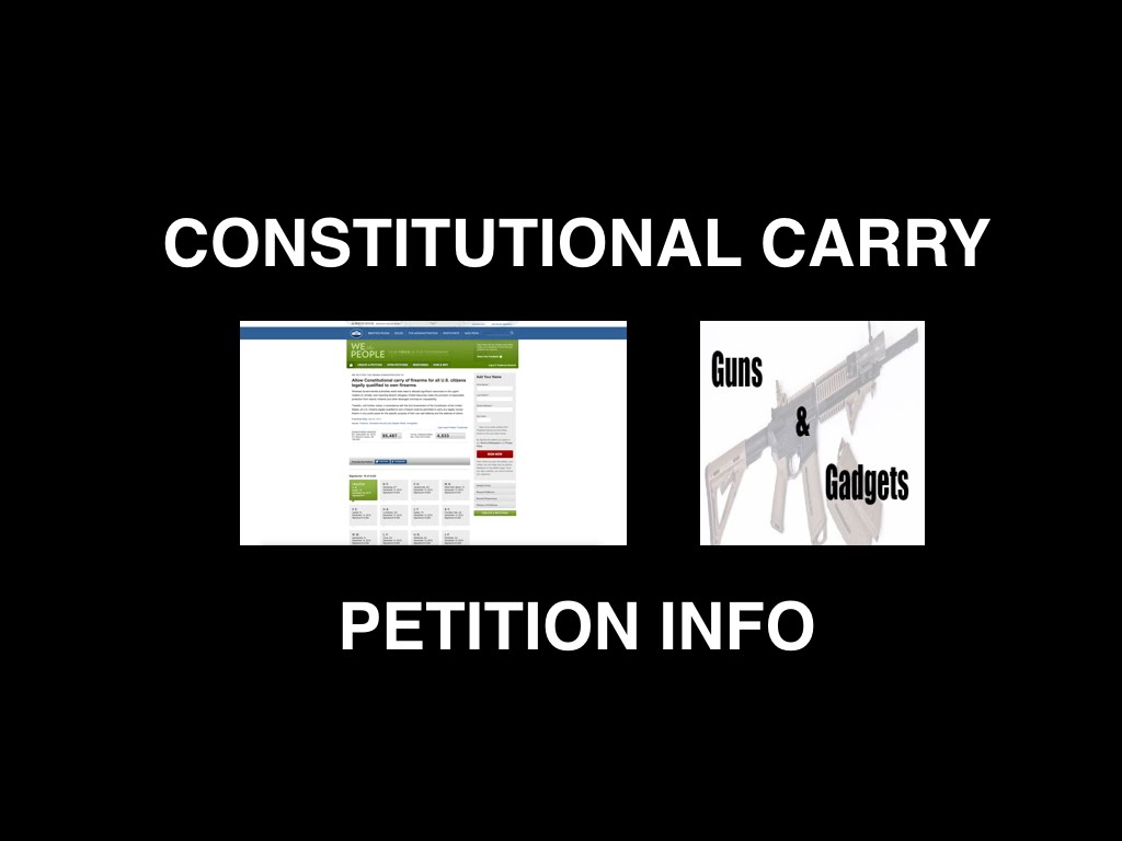 Constitutional Carry Petition