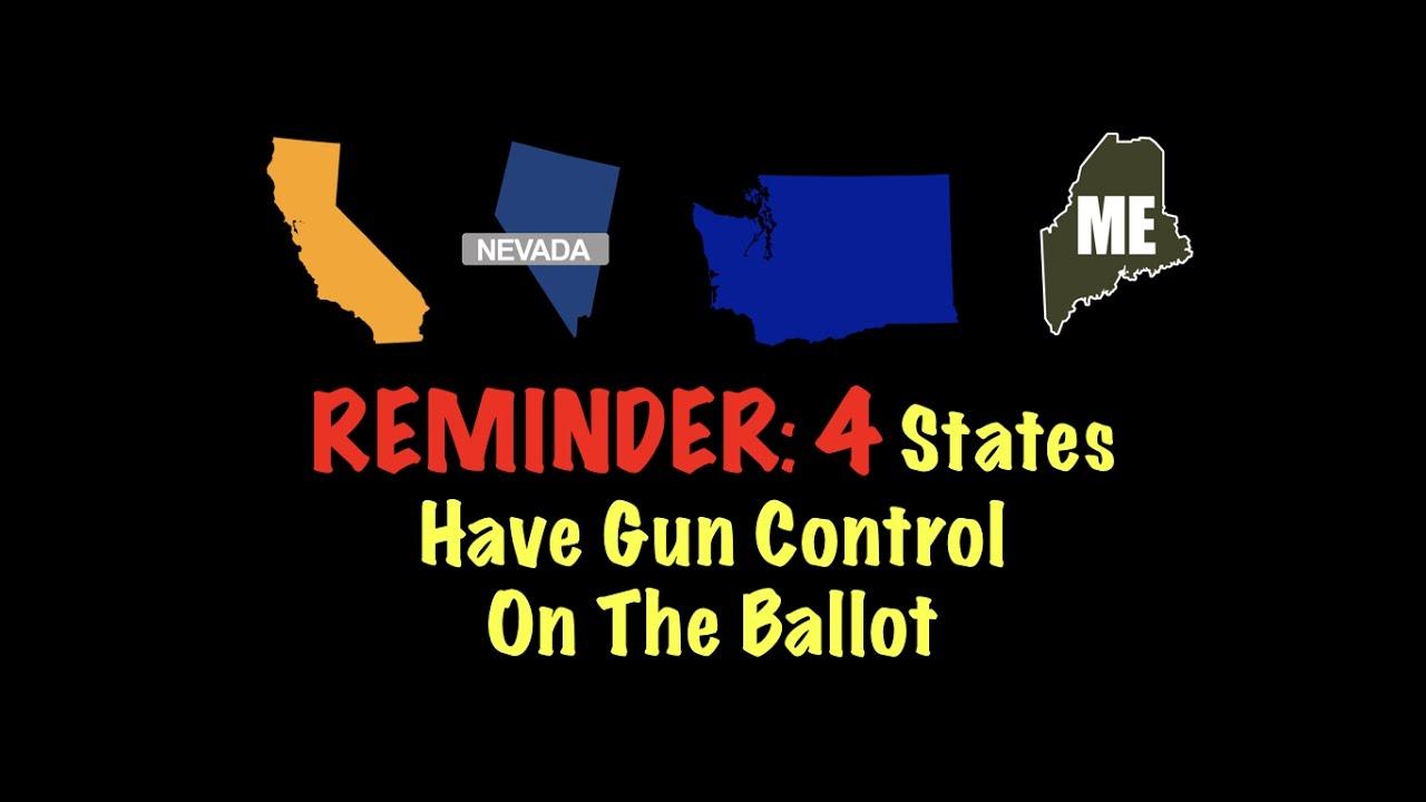 REMINDER: 4 States Have Gun Control On The Ballot