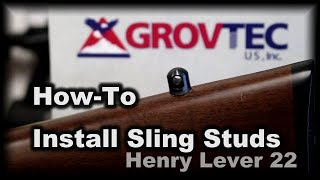 How-to Mount Sling Studs Henry lever action GrovTec