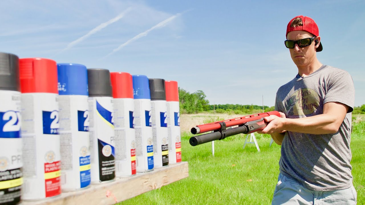 How Many Cans of Spray Paint will a  Shotgun Shoot Through? | Gould Brothers