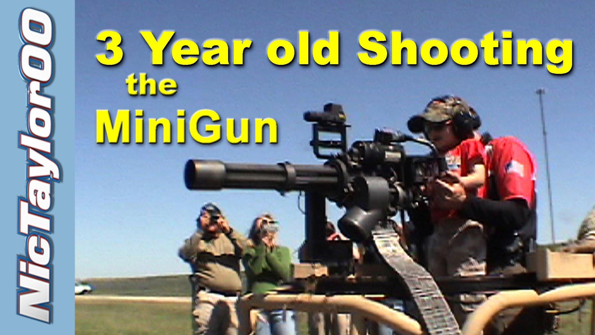 First Time Shooting a MiniGun/Gun (Long Version)