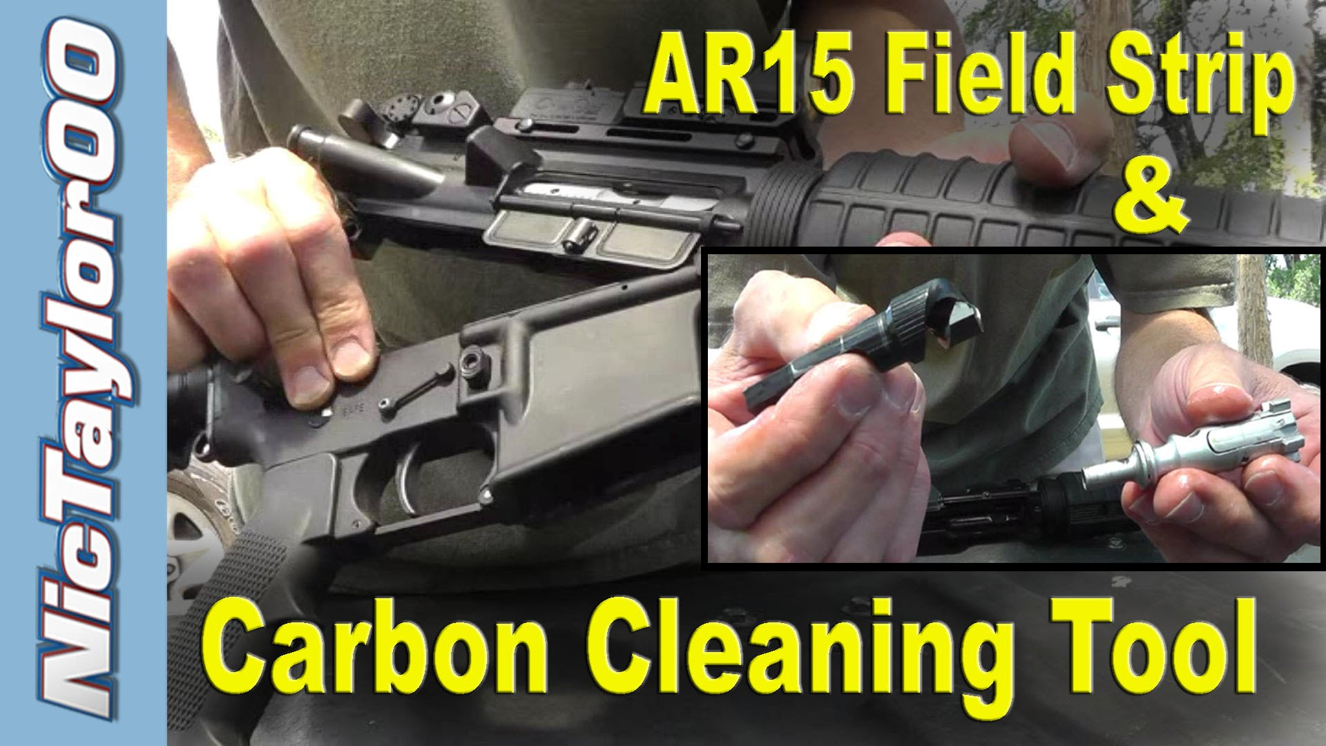 AR-15 Field Strip & DI Carbon Cleaning Tool for the Bolt