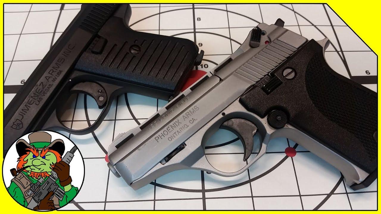 CHEAP American 22 Pistols! Jimenez JA-22 vs Phoenix HP22A