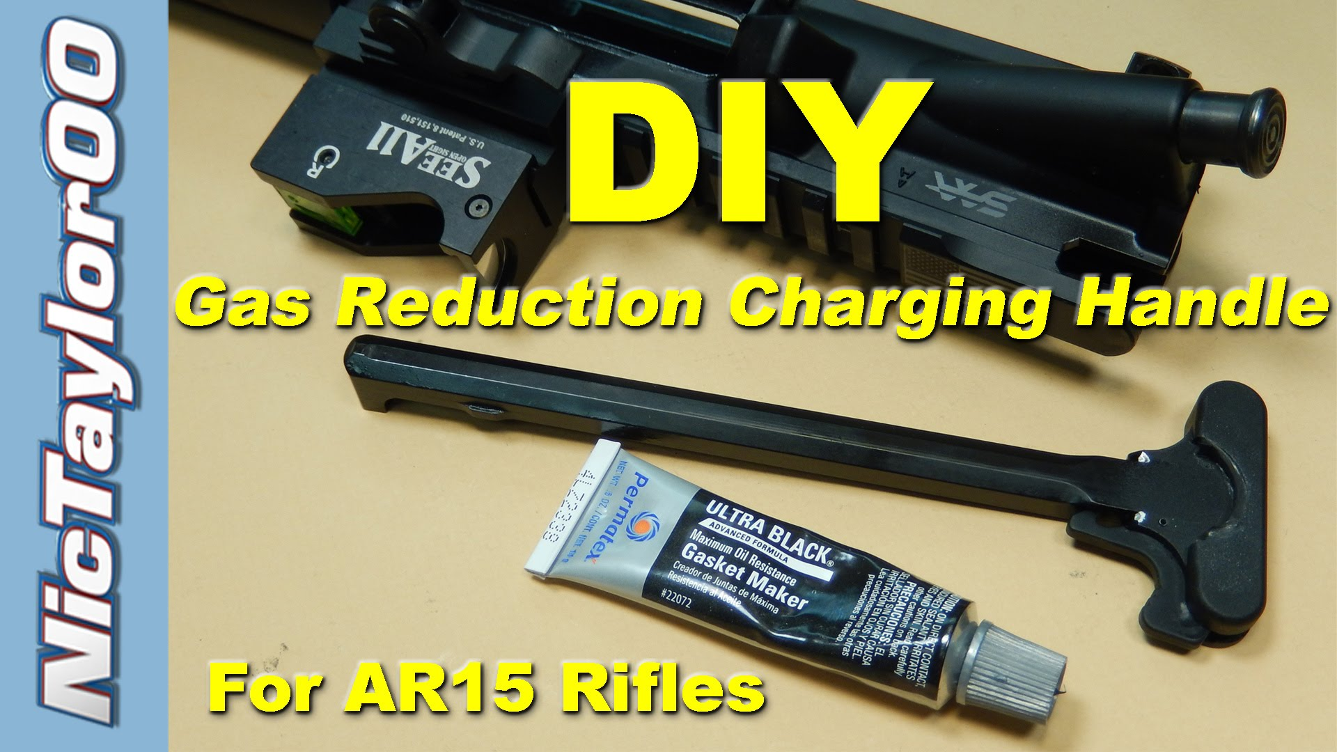 Simple DIY Gas Buster Charging Handle for the AR15