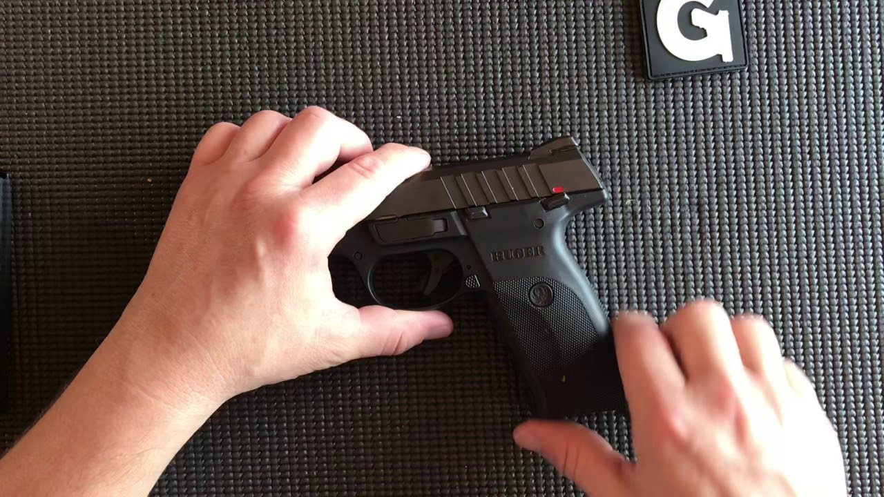 Ruger 9E / SR9 Field Strip while Totally Blind