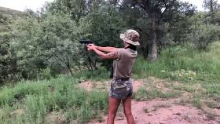 Marie learning to shoot. Beretta 92 Mexico border BuildTheWallTV