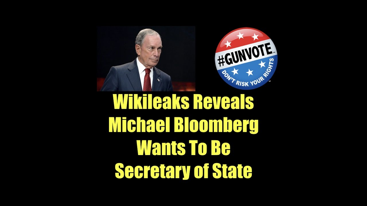 Wikileaks Emails Show Michael Bloomberg Wants To Be Secretary of State