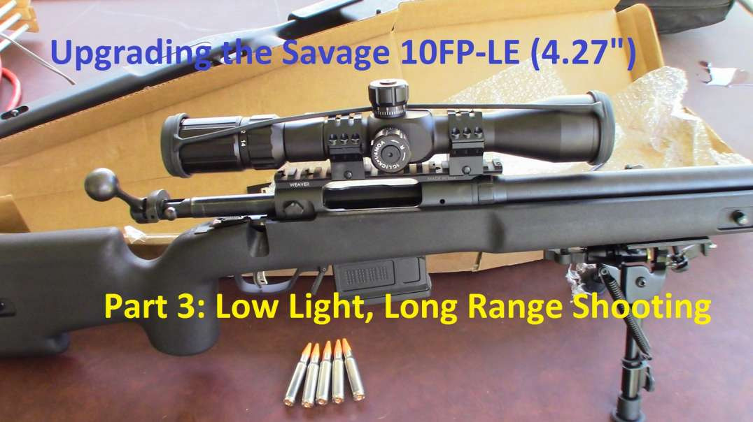 Savage 10FP-LE Upgrade (Pt 3) - Putting the Primary Arms ARC-2-MOA scope to the test