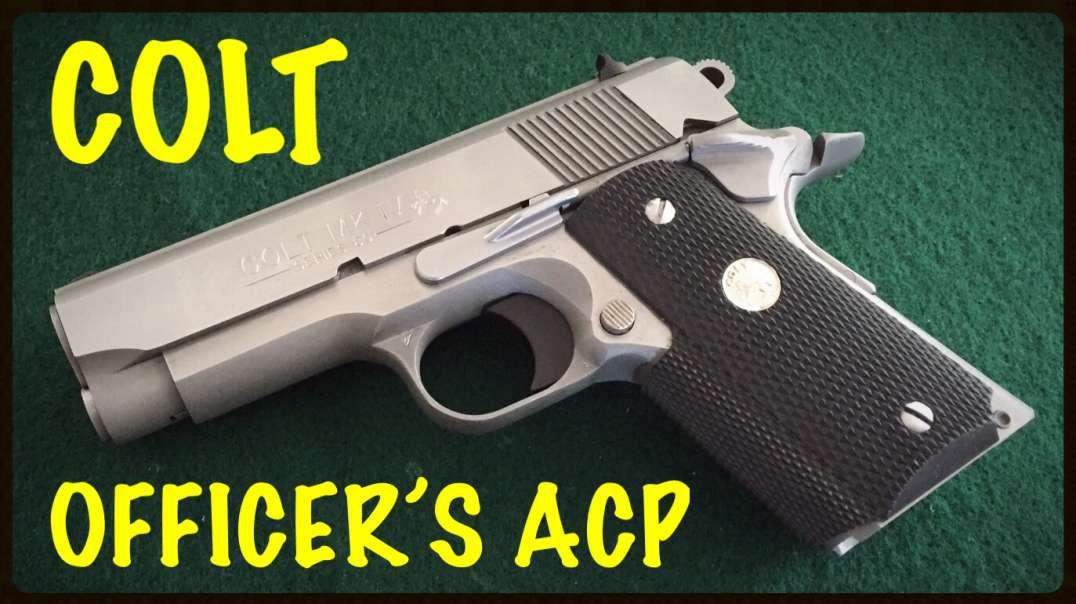 COLT OFFICER'S ACP .45 CALIPER - SERIES 80 - STAINLESS ENHANCED MODEL - 1911 PLATFORM PISTOL