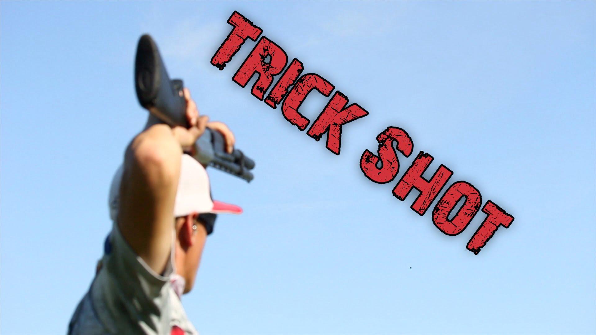100 yard Shotgun Trick Shot | Gould Brothers