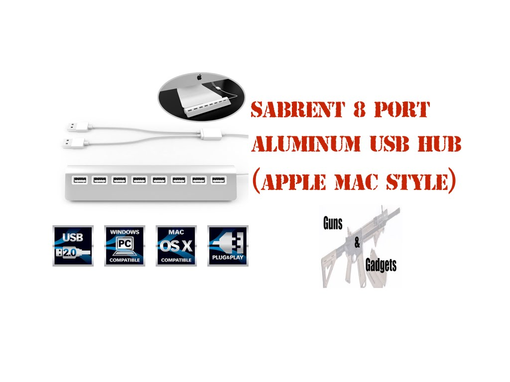 Sabrent Premium 8-Port Aluminum USB Hub - Apple Mac Style
