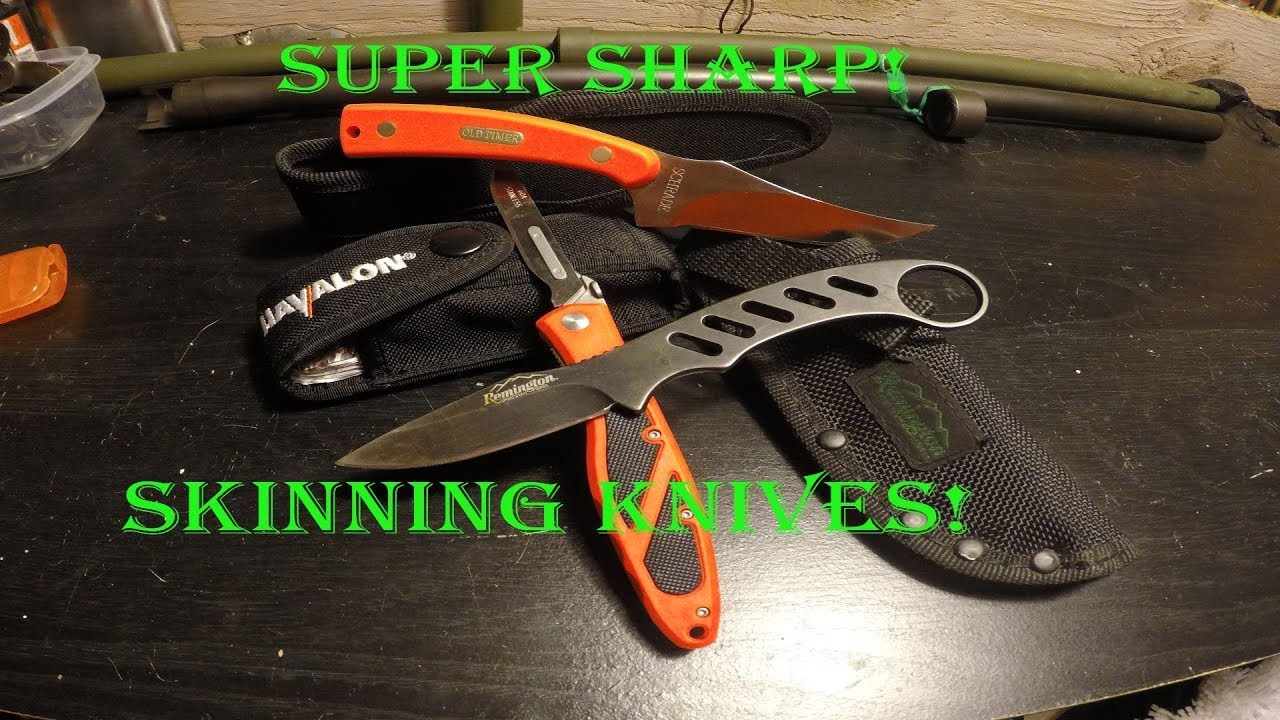 Skinning Knife reviews. Havalon, Schrade, Remington!