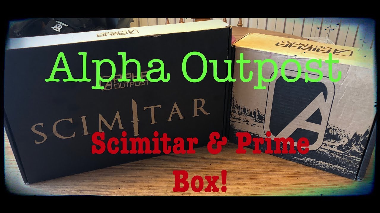 Alpha Outpost September 2018 | Scimitar box plus bonus!