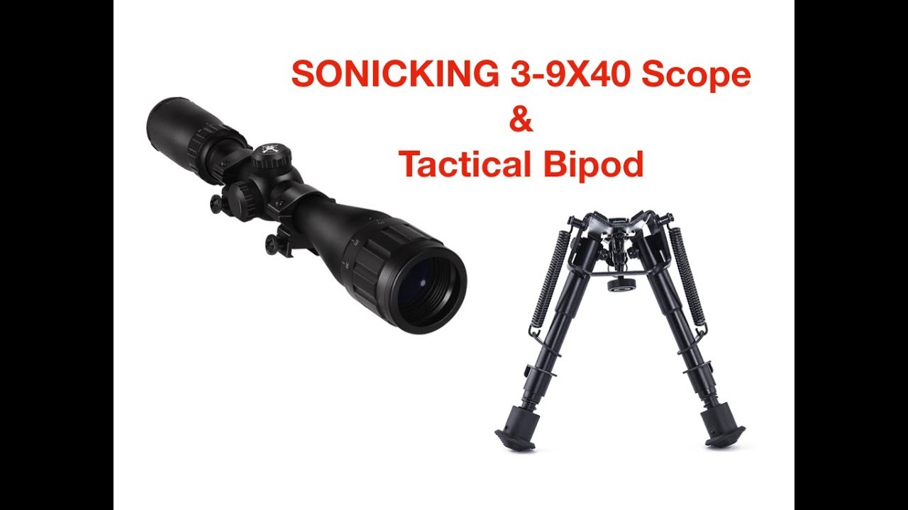 Sonicking 3-9x40 Scope and Bipod Review