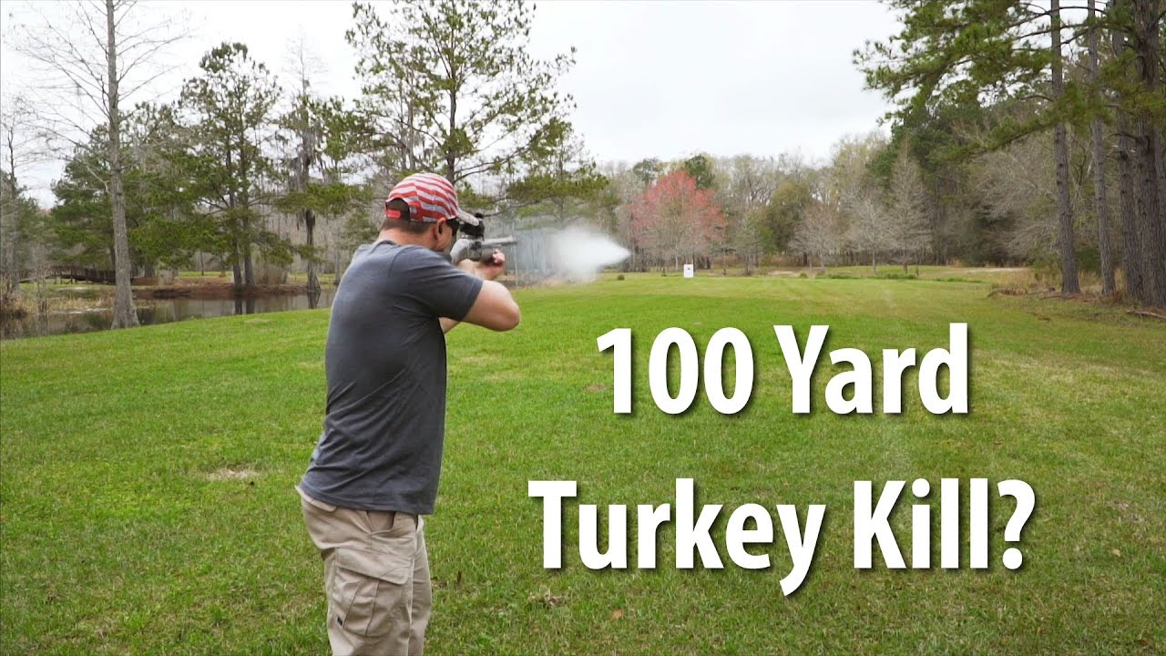 Turkey Hunting: 100 Yard Turkey Kill with a Shotgun? | Gould Brothers