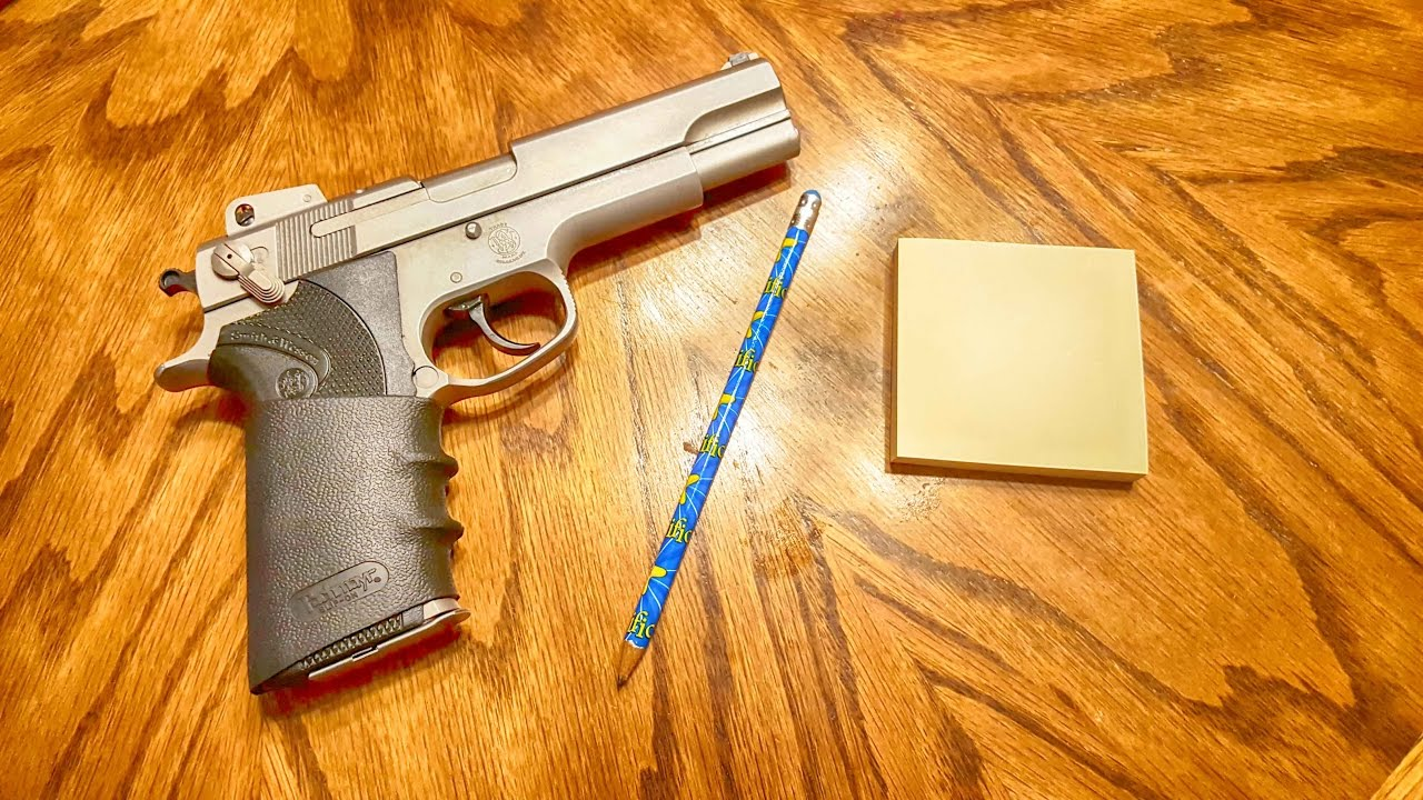 Pistols Pencils and Post-It Notes Trigger Control Drills