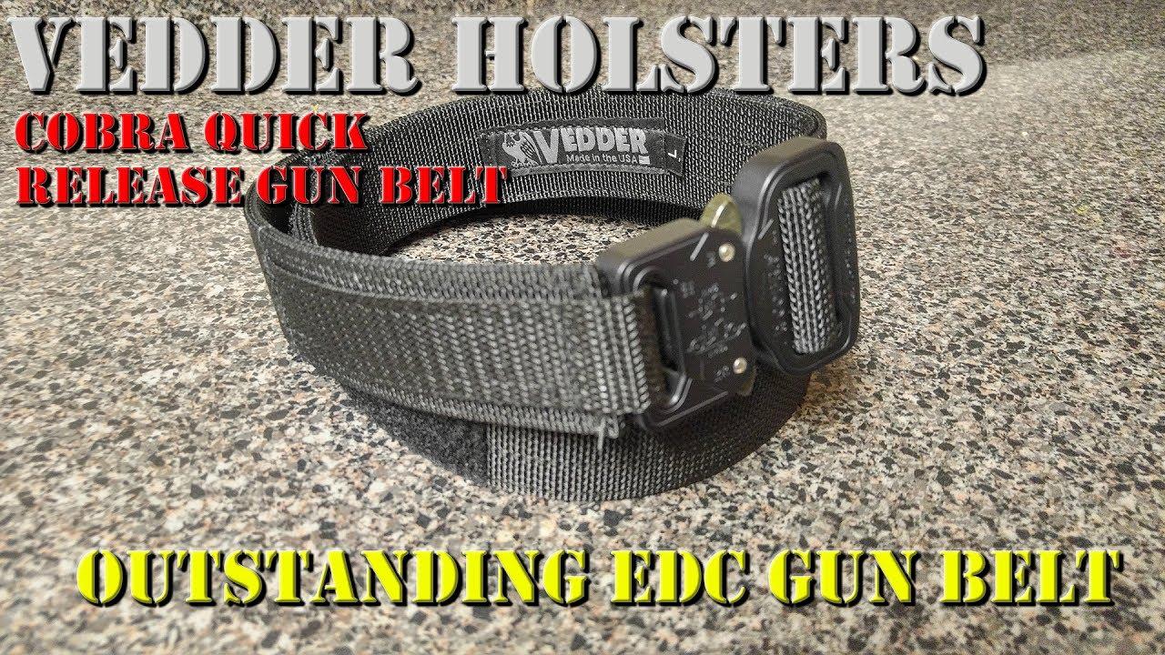 Vedder Cobra Quick Release Gun Belt - An Outstanding EDC Gun Belt