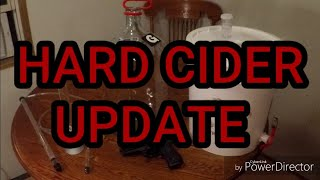 Hard Apple Cider Update
