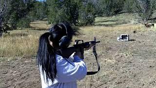 Mari's First Shots with an AR15