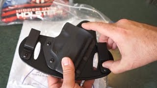 Hidden Hybrid Holsters Double Clip IWB/OWB Ruger EC9S, LC9S, LC9 holster overview!