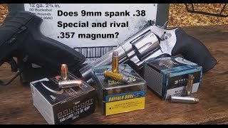 Does 9mm spank .38 Special and rival .357 magnum?