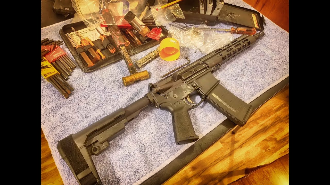AR 15 Pistol Build Palmetto State Armory 10.5 upper with Anderson lower