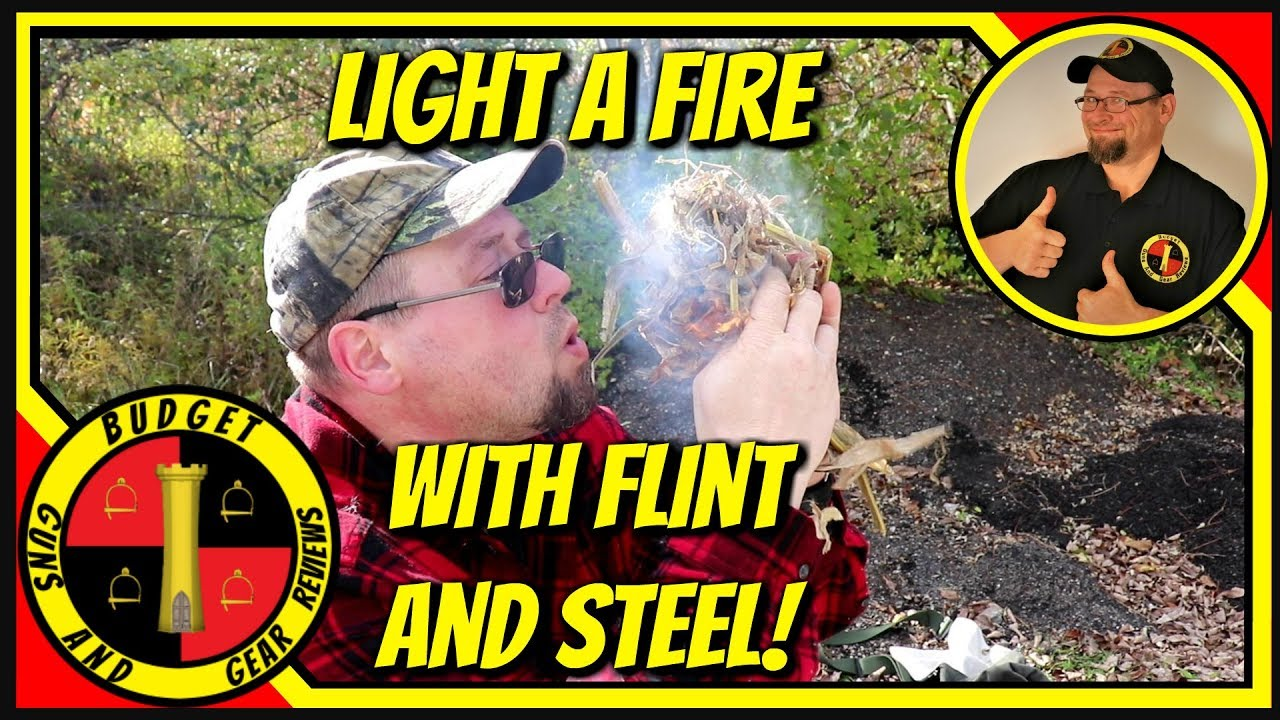 Starting A Fire With Flint And Steel