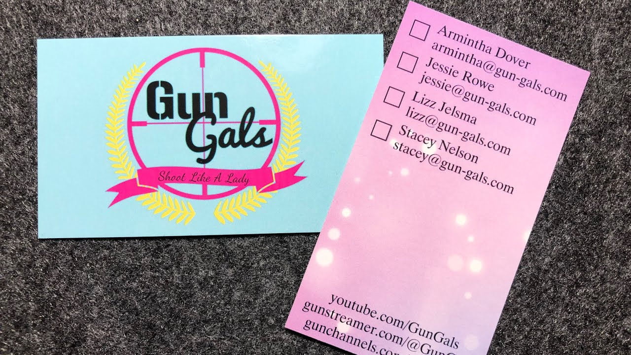 Gun Gals Business Cards Are Here