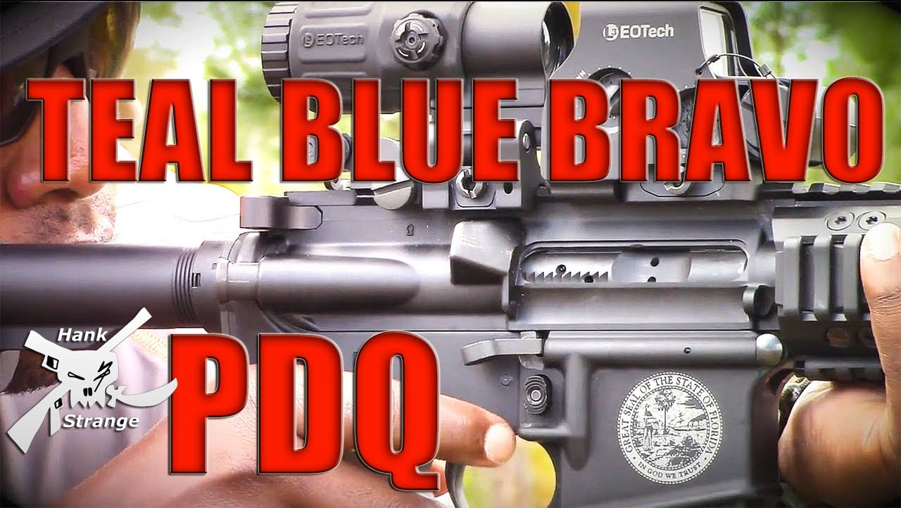 Teal Blue Bravo PDQ Bolt Stop Release