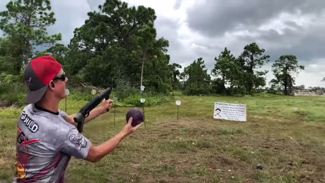 Gould Brothers Shotgun Trick Shots With A KEG12