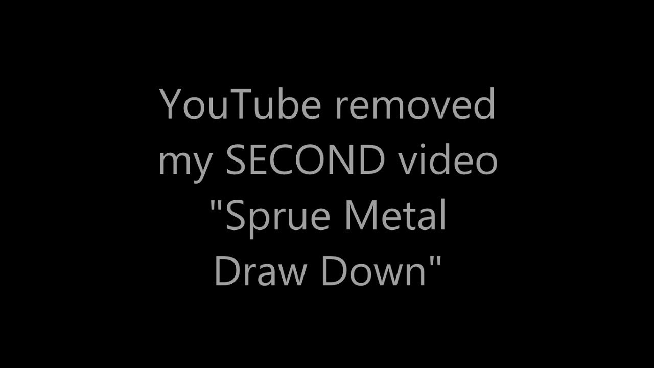 YouTube removed my second video