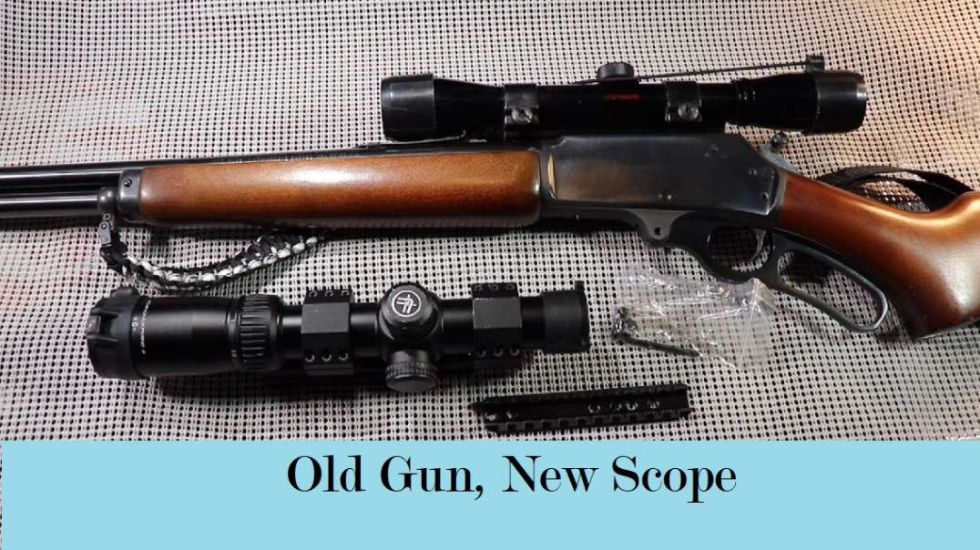 Marlin 30AS and re-purposing an AR Scope