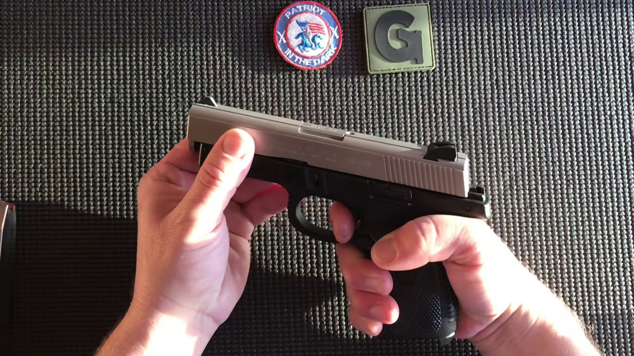 Smith & Wesson 40VE 9VE Field Strip while Totally Blind