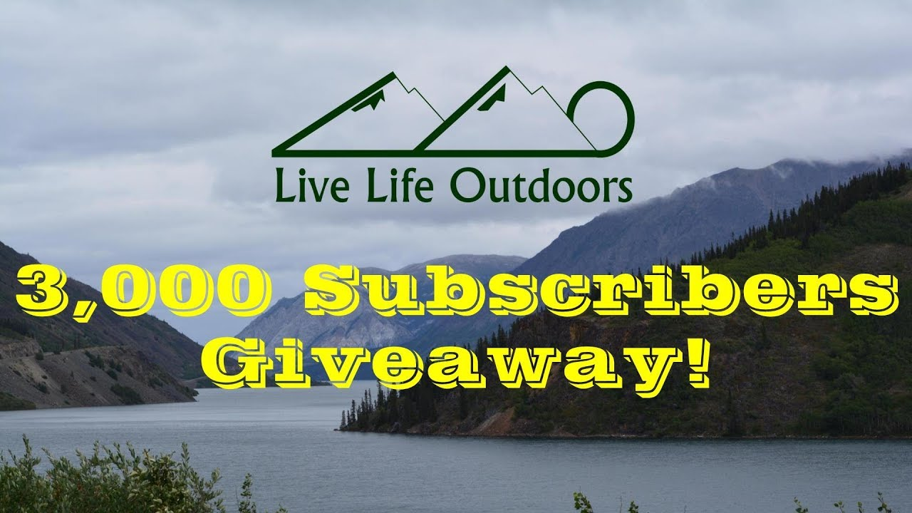 Live Life Outdoors 3,000 Subscriber T-Shirt Giveaway!