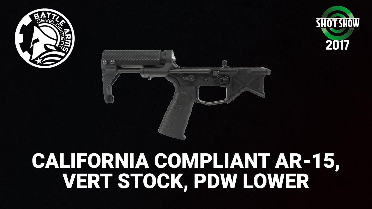 Battle Arms California Compliant AR-15, Vert Stock, PDW Lower - SHOT Show 2017 Day 2