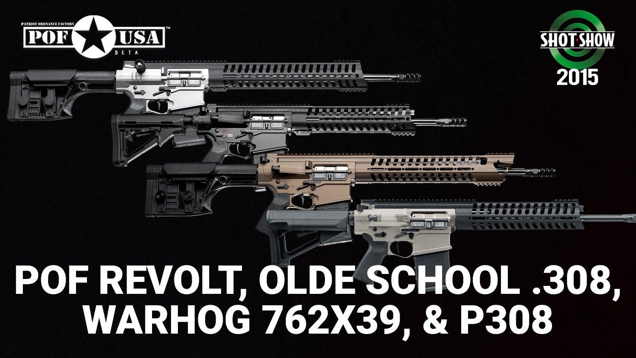 Patriot Ordnance Factory ReVolt, Olde School .308, Warhog 762x39, and P308 - SHOT Show 2015