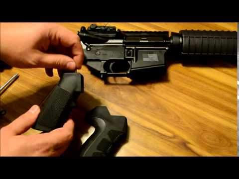 ATI X2 Scorpion Pistol Grip Installation on AR-15