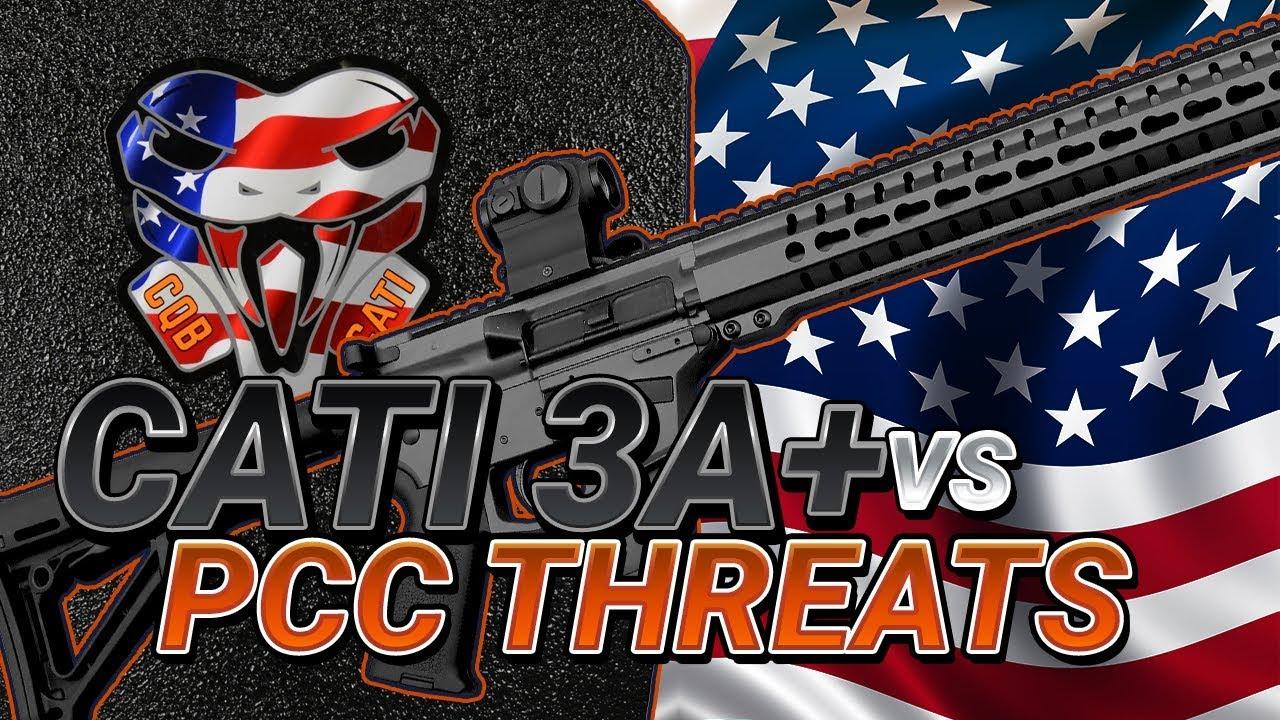 CATI's new IIIA+ steel armor vs pistol caliber carbine threats