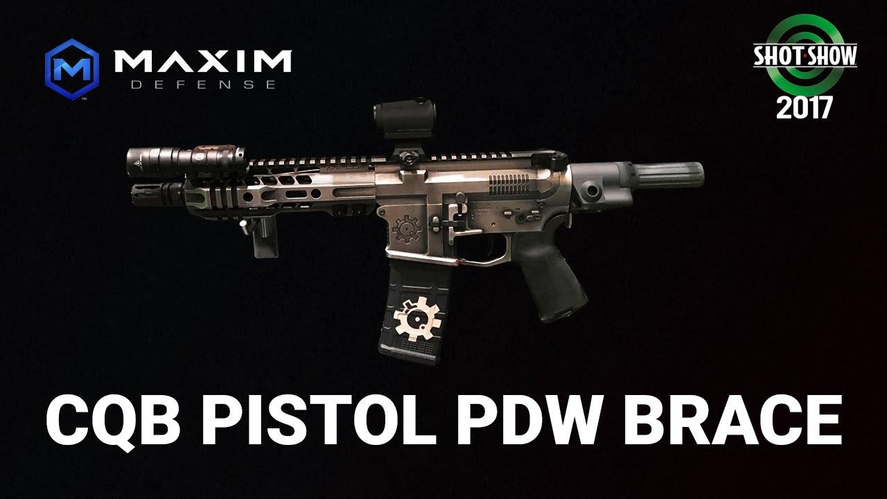Maxim Defense CQB Pistol PDW Brace - SHOT Show 2017 Day 1