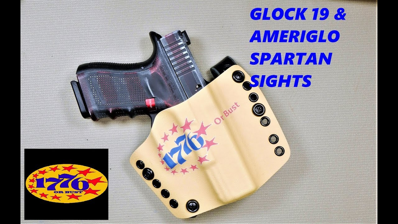 GLOCK 19 & AMERIGLO SPARTAN NIGHT SIGHTS