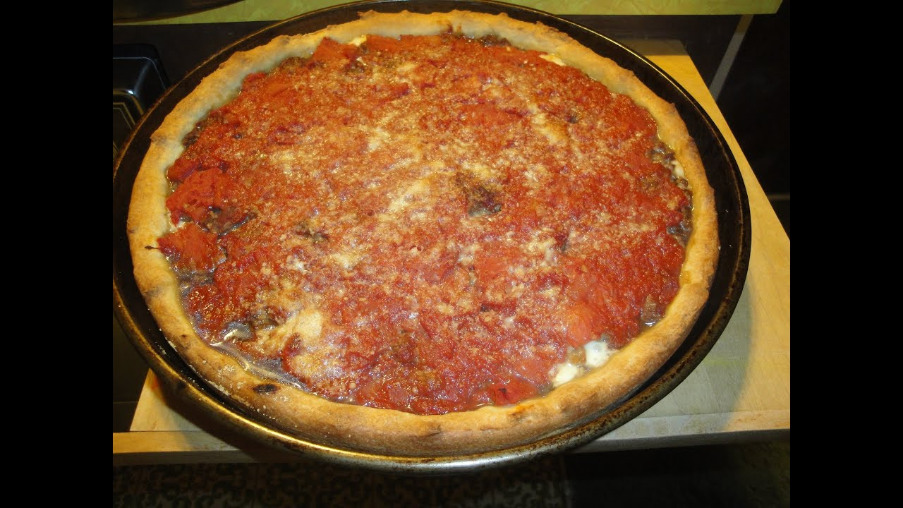 Making Chicago style Pizza
