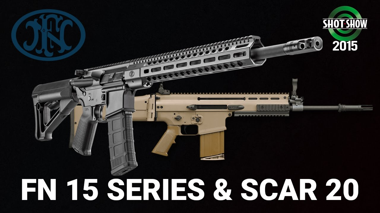 FNH FN 15 Series Rifles, Tactical Carbine, DMR and SCAR 20 - SHOT Show 2015