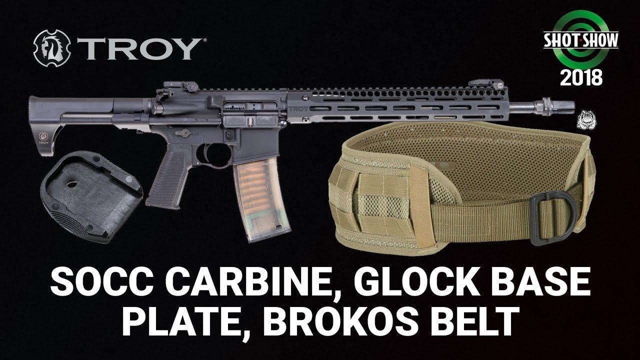 Troy & Lead Faucet Tactical SOCC Carbine, Glock Base Plate, Brokos Belt - SHOT Show 2018 Day 2