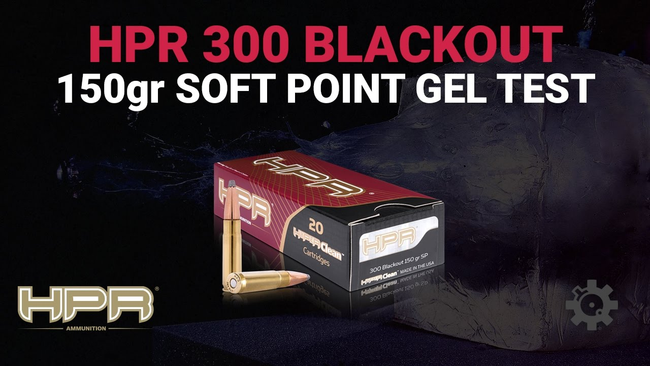 HPR 150 Grain - 300BLK Gel Test