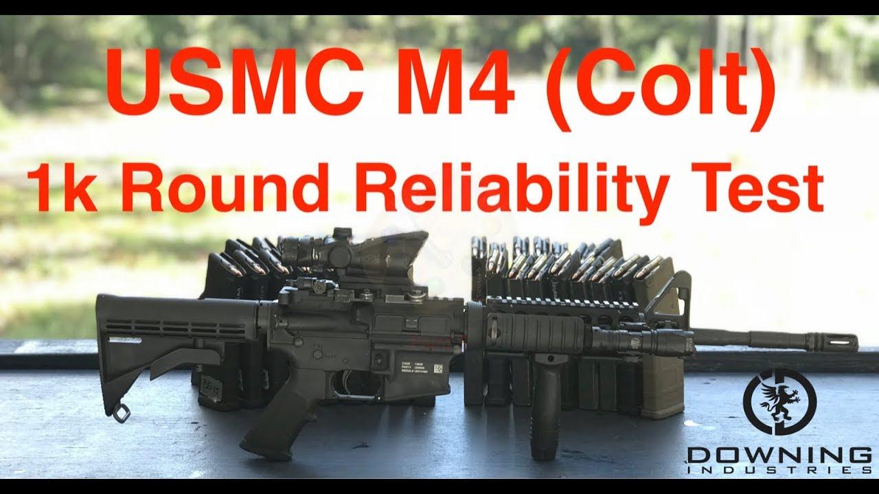1k Round Reliability Test, Colt M4