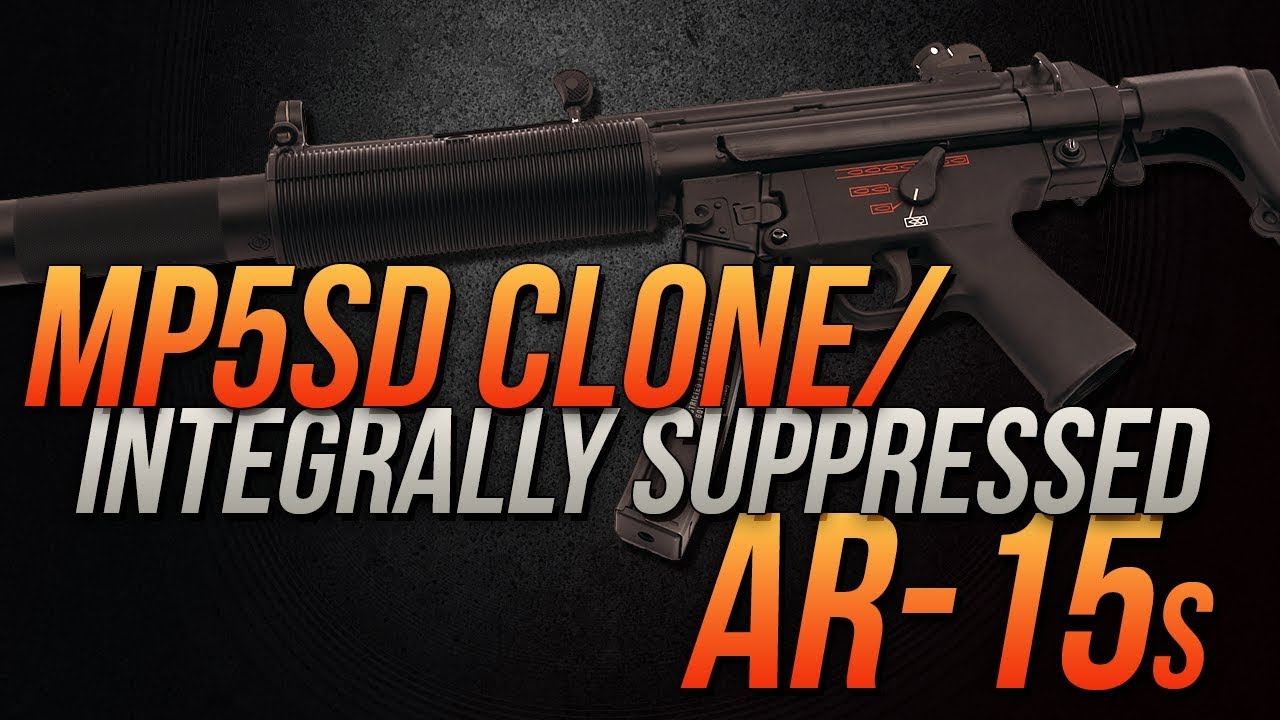 D3LLC's MP5SD Clone And Integrally Suppressed AR15s