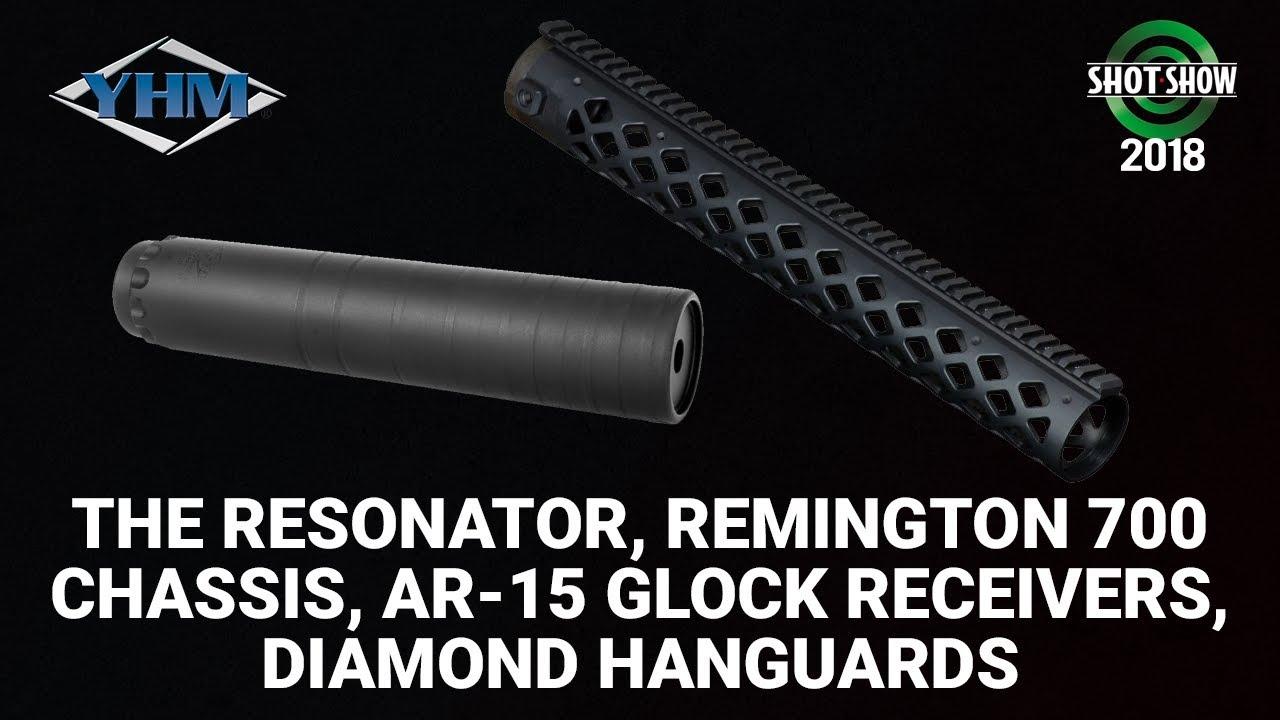 Yankee Hill Machine Resonator, Remington 700 Chassis, AR-15 Glock Receivers - SHOT Show 2018 Day 2